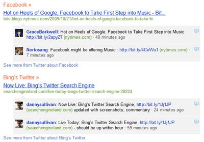 Facebook Twitter Bing Search