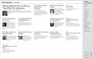 New York Times Google Chrome Web App