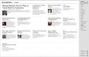 New York Times Google Chrome Web App