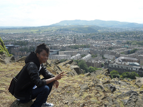 Corvida Raven at Arthur's Seat