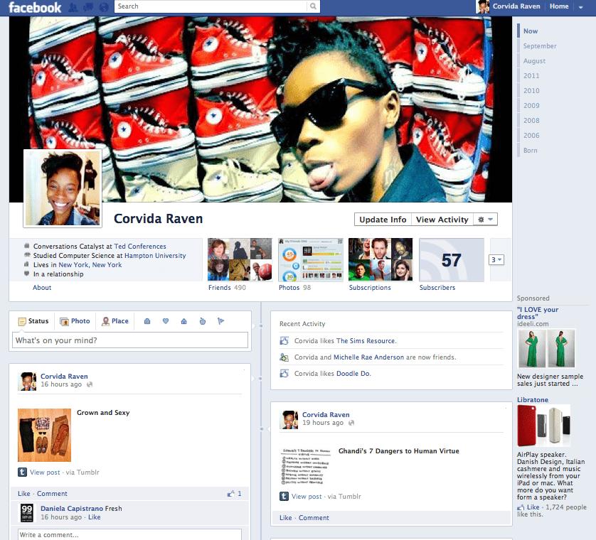 Corvida Raven's Timeline on Facebook