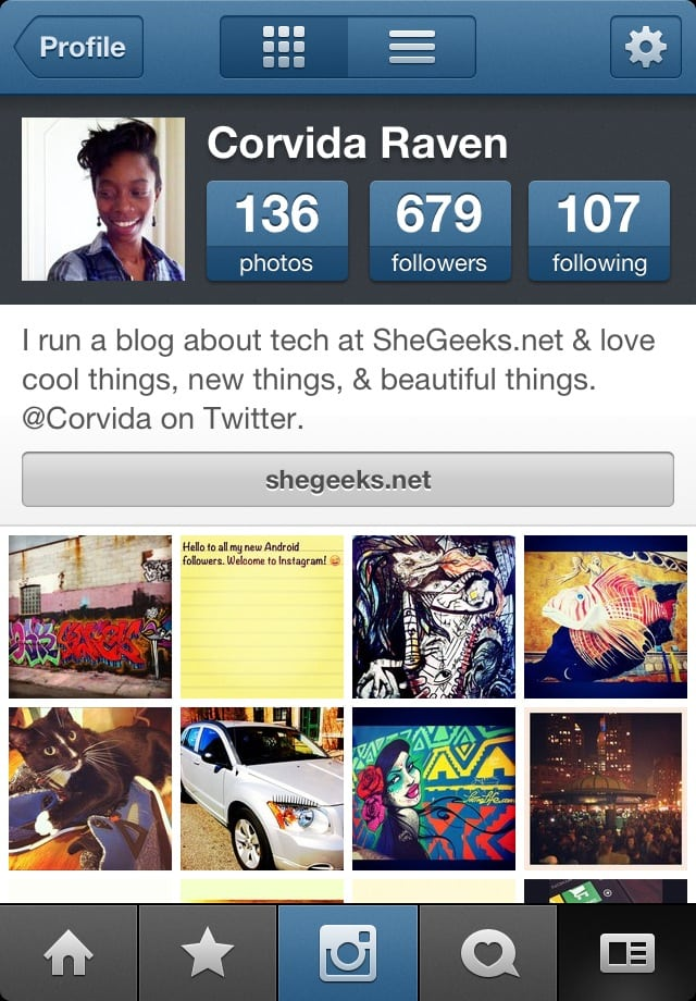 Instagram Profile Corvida
