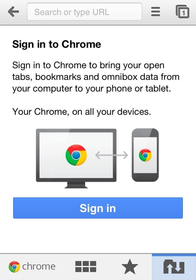 Google Chrome for iOS