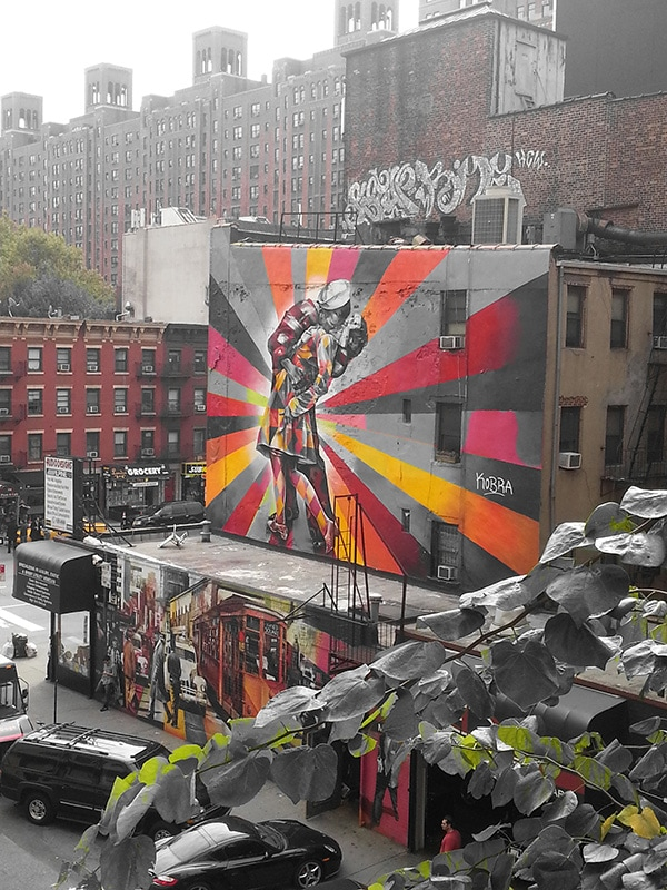 Samsung Galaxy Note II Filtered Shot: Highline Artwork in NYC