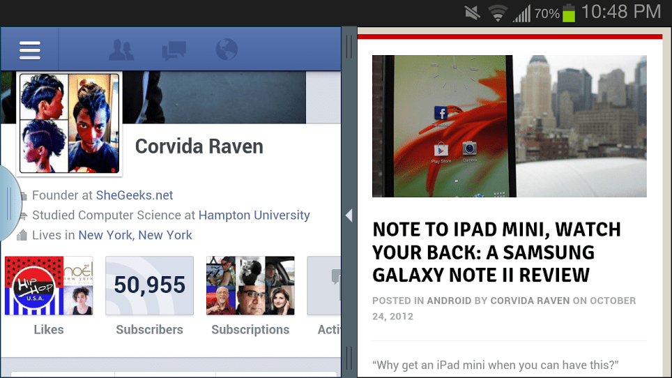 Galaxy Note II Multiwindow