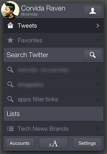 Twitterrific 5 settings