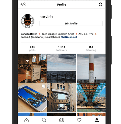 Instagram Mobile Site
