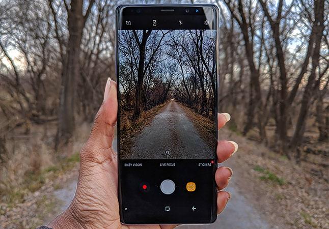 Note 8 Camera app