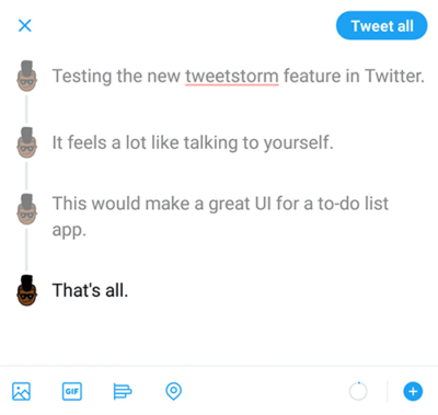 Threads in Twitter for Android