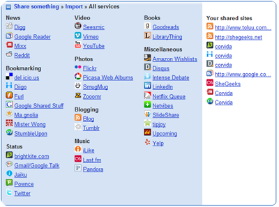 friendfeed services