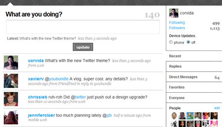 new twitter theme