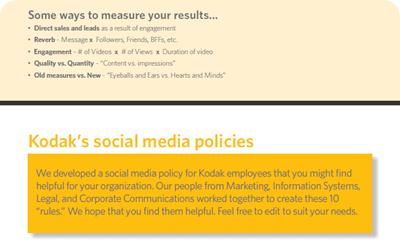 Kodak Social Media Tips