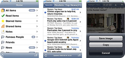 MobileRSS iPhone App