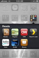 iOS4 Folders