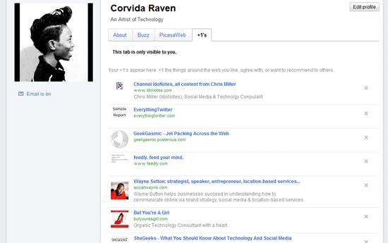 Corvida Raven - Google Profile