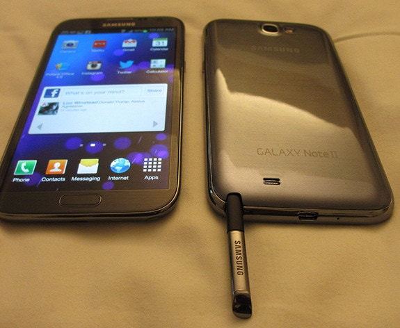 Samsung Galaxy Note II (Front and Back)