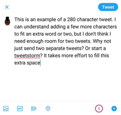 280 Character Tweet