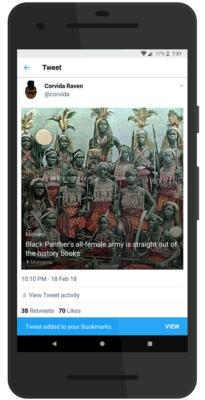 Twitter Bookmark Successful