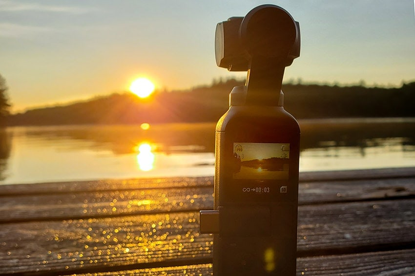 Osmo Pocket Camera Recording Sunrise