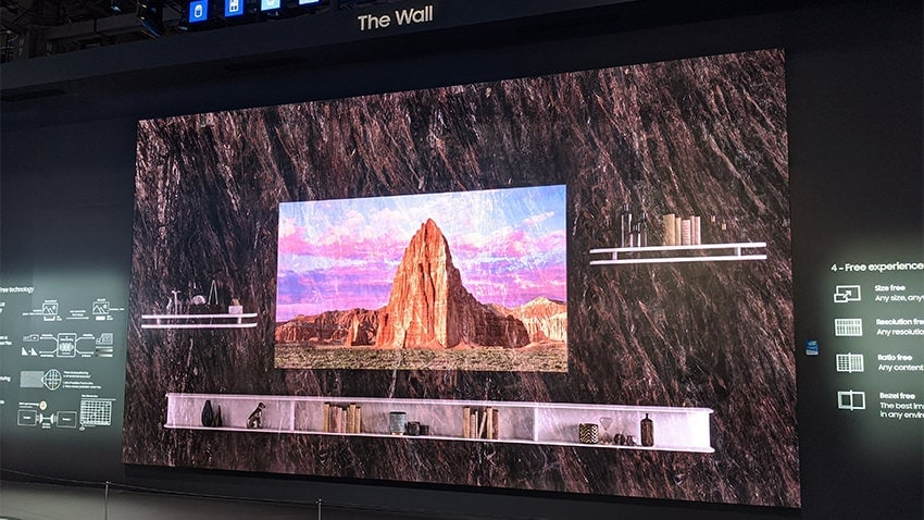 Samsung Wall at CES