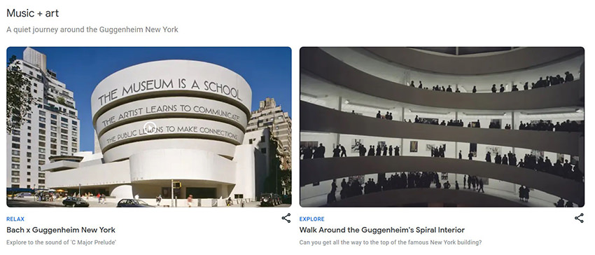 Guggenheim Virtual Museum Tour Website