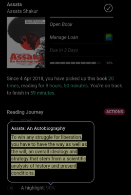 Libby Ebook Reading Journey