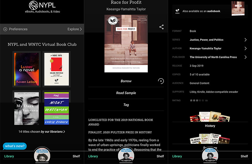 NYPL Ebooks Collection in Libby