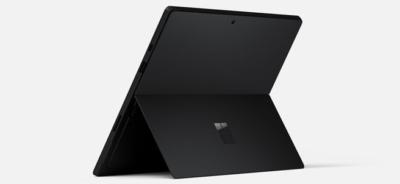 Back of Microsoft Surface Pro 7